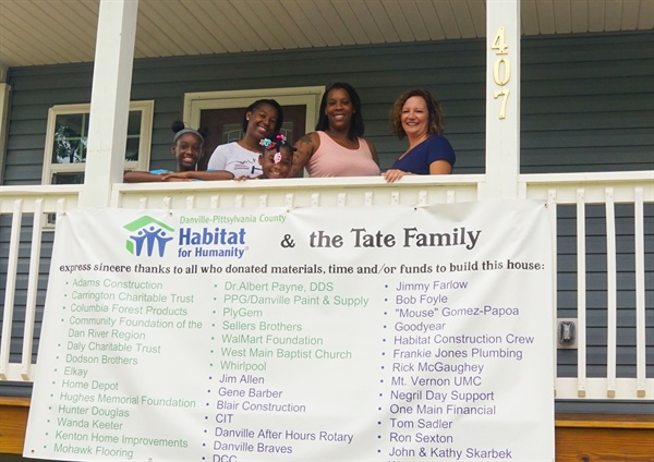 GRANT AWARDED TO HABITAT FOR HUMANITY